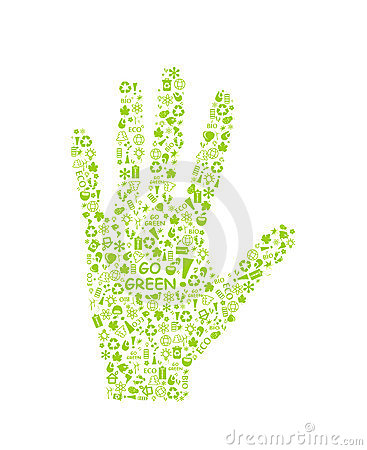 Free Go Green Eco Pattern On Hand Palm Stock Photo - 23657010
