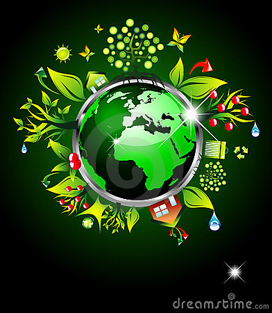 Go Green Ecology Background
