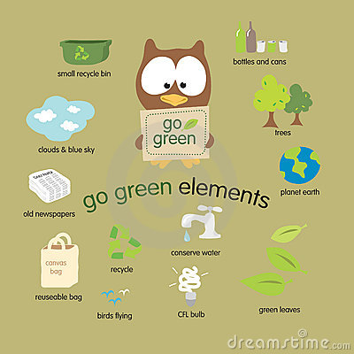 Free Go Green Elements Set Royalty Free Stock Images - 8468909