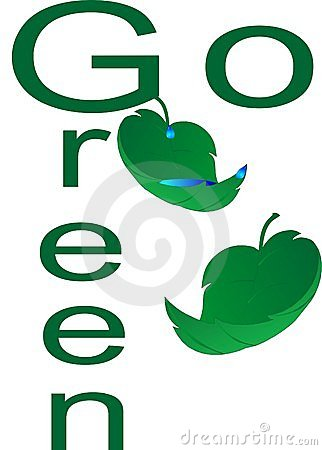 Free Go Green Environmentally... Royalty Free Stock Photo - 14052655