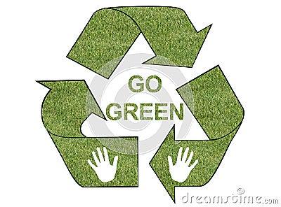 Go green grass logo