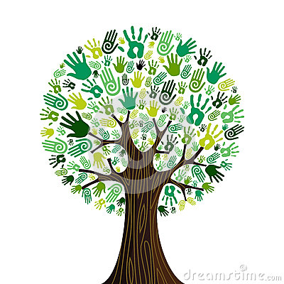 Free Go Green Hands Collaborative Tree Stock Photos - 25541493