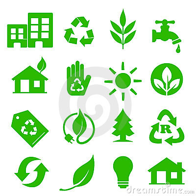 Go Green Icons set - 01