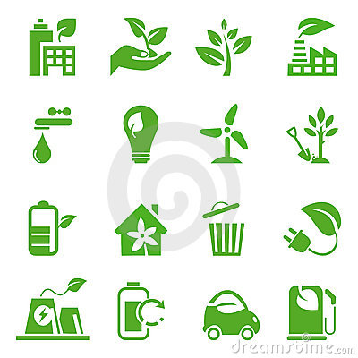 Go Green Icons set - 02