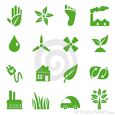 Go Green Icons set - 03