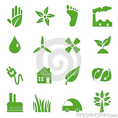 Go Green Icons set - 03