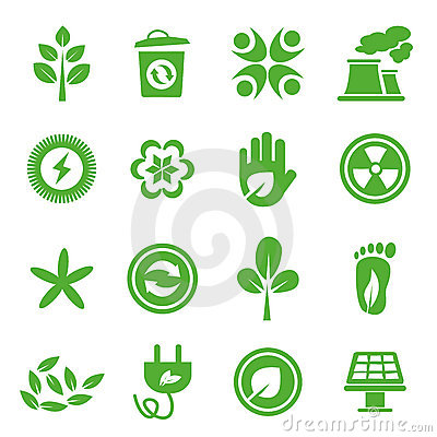 Free Go Green Icons Set - 04 Royalty Free Stock Photography - 20665287
