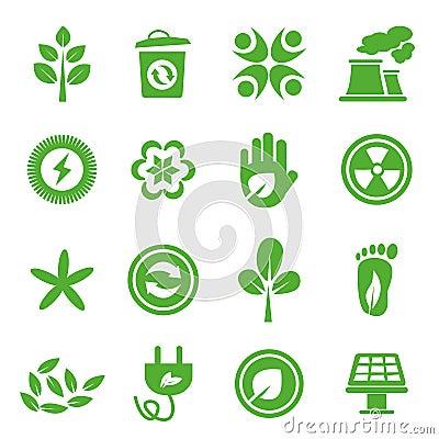 Go Green Icons set - 04