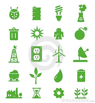 Free Go Green Icons Set - 05 Stock Photos - 20665323
