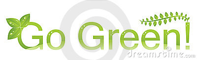 Go green logo (Protect the environment )