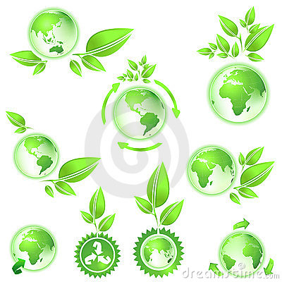 Go green, planet earth maps