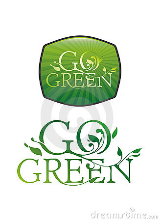 Go green typography