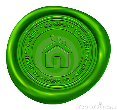 Free Go Green Wax Seal Royalty Free Stock Image - 15926216