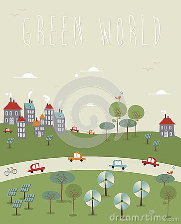 Free Go Green World Design Royalty Free Stock Photography - 32018077