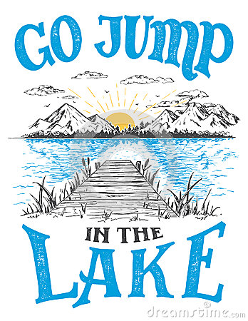 Free Go Jump In The Lake House Decor Sign Stock Images - 91984924