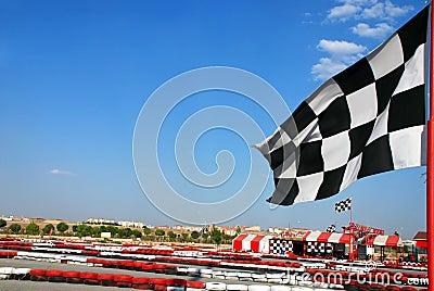 Go kart race flag