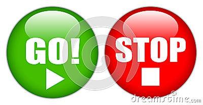 Go stop button