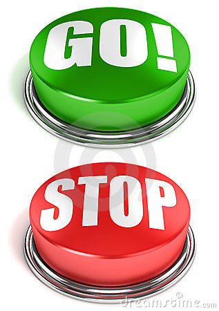 Free Go Stop Buttons Royalty Free Stock Image - 23116946