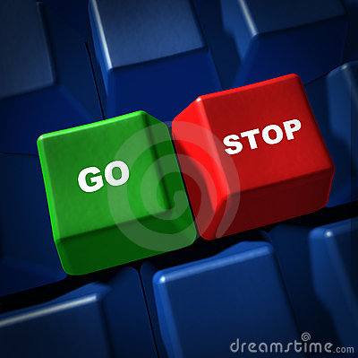 Go stop green red light computer keyboard key IT s