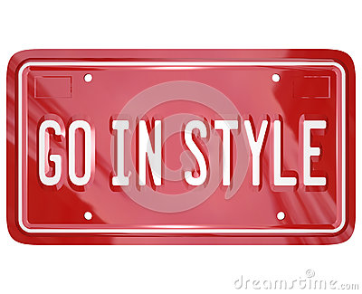 Go In Style Vanity License Plate Car Automobile Vehicle