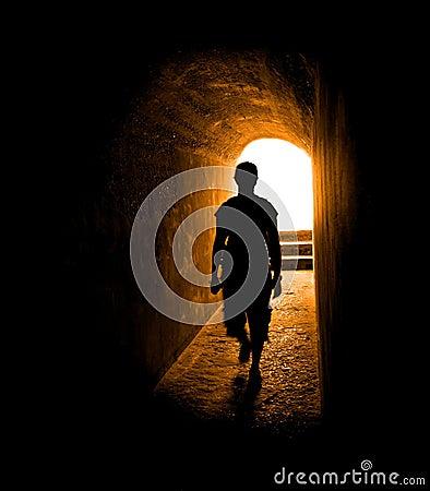 Free Go Towards The Light Royalty Free Stock Photo - 18987605