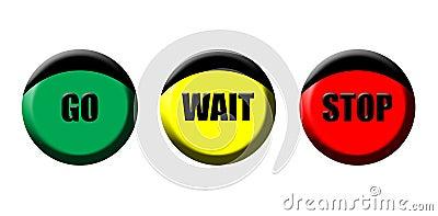 Go wait stop icons