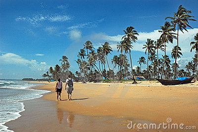 Goa Beaches in India Editorial Stock Image