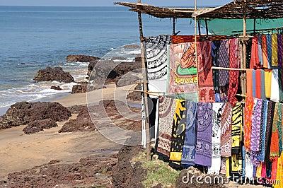 Goa: Fabric at flea market