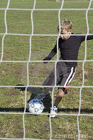 At the goal