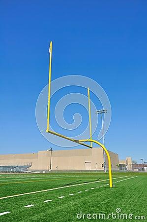 Goal Posts on American Football Field