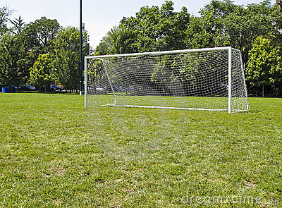 Goal Posts on soccer field