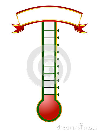 Free Goal Thermometer Royalty Free Stock Photo - 26182655