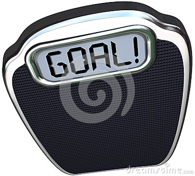 Free Goal Word Scale Weight Loss Target Lightweight Stock Image - 32425581