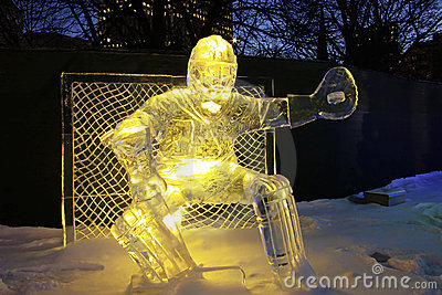 Goalie Ice Sculpture