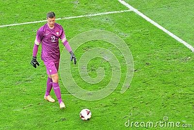 Goalkeeper of the National Team of Poland Wojciech Szczesny during friendly soccer match versus Lithuania
