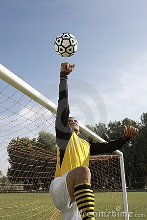 Goalkeeper Reaching For Ball Stock Photos - Image: 13585063