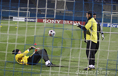 Goalkeepers of Inter Milan Editorial Photography