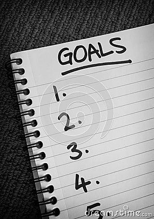 Goals List Spiral Notebook