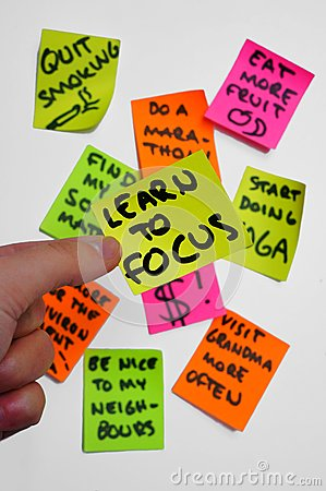 Goals tasks projects Overambition. Learn to focus