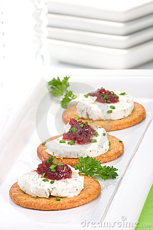 Free Goat Cheese Canapes Royalty Free Stock Image - 3612096