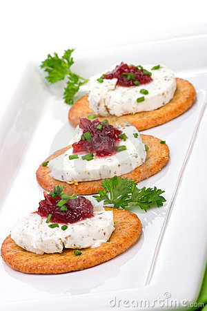 Free Goat Cheese Canapes Royalty Free Stock Photo - 3790225
