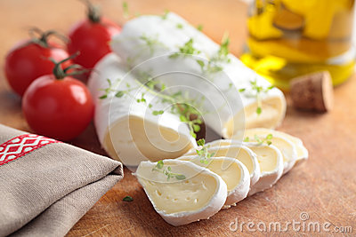 Goat cheese and tomato