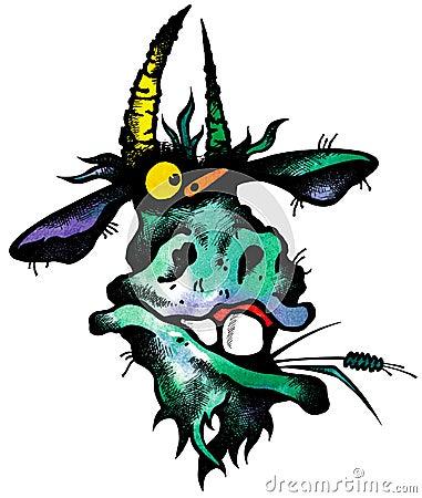 goat insolent stock images image 9174684. Black Bedroom Furniture Sets. Home Design Ideas