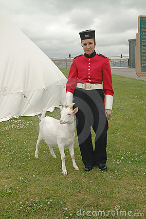 Goat Mascot, Fort Kingston, Ontario Canada. Editorial Photo