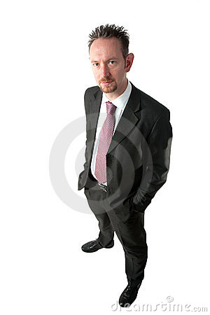 Goatee Businessman with Hands in Pockets
