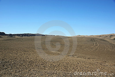 Gobi desert and blue sky