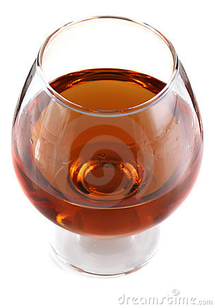 Goblet with cognac