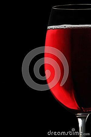 Goblet red wine