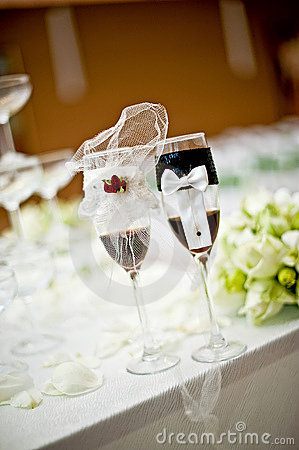 Goblet table setting