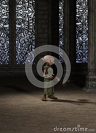 Goblin Servant Girl with Broom